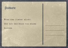 // Postkarte 8 / Rückseite //