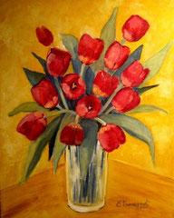 2009 - Tulipani - olio su tela - 50x40 cm - collezione privata