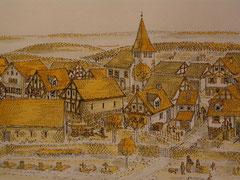 Gaiberg im Jahr 1750