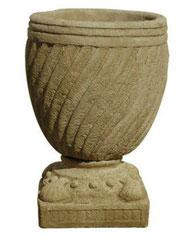 Vase torsadé sur pied coquillage  V 36 Bis H 58 / D 35