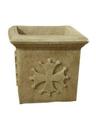Vase carré occitan V 63 H 45 / L 50 / l 50