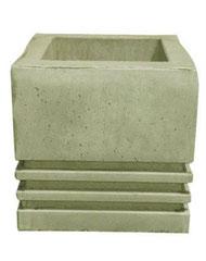 Vase carré 3 bandes V 301 H 41 / L 41 / l 41
