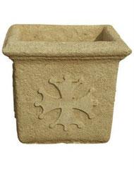 Vase carré occitan martelé V 63 MART H 45 / L 50 / l 50