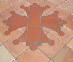 Croix occitane au sol 1.55 ML en 29 éléments