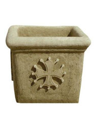 Vase carré occitan V 93 H35 / L 30 / l 30
