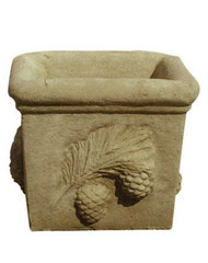 Vase carré pigne V 95 H 35 / L 30 / l 30
