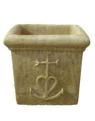 Vase carré camargue V 73 H 35 / L 30 / l 30