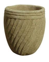Vase torsadé sur pied V 36 H 45 / D 45