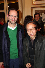 Laurent Valera et l'artiste Huang Yong Ping