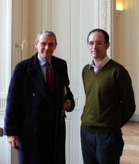 Jean Jacques Aillagon et Laurent Valera