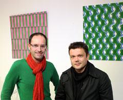 Laurent Valera et l'artiste Jean Michel Othoniel