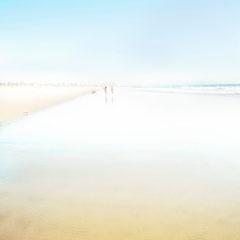 Blue side  in Santa Monica beach,  Digital color blue series 1/20
