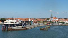 Hafeneinfahrt von Roenne auf Bornholm