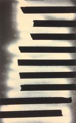 >>Milchstraße<<, Spray on Paper, 30,5 x 48 cm, 2015