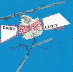 >>Light<<, Edding, Stamps, Tape and Journal Cutouts on Paper, 20 x 20 cm, 2014