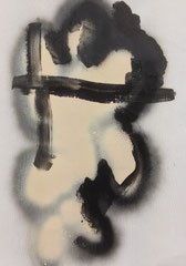 >>o. T.<<, Spray and Oilcolour on Paper, 29,5 x 42 cm, 2015