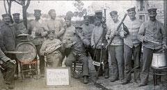 Allemands en seconde ligne, 1915.