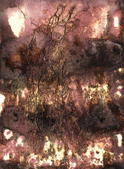 ohne Titel, Mischtechnik auf Papier, 2001, 56 x 37 cm [20010274]