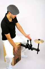 cajon sound bridge shaker jingle cymbal splash zusatzinstrument add on spielen weltneuheit tools
