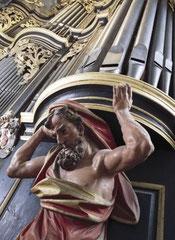 Brandenburg, Dom, Herme an der Wagner-Orgel