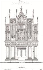 Wilhelm Remler (Berlin): Prospektentwurf für die 1875 erbaute Orgel in der Stadtkirche zu Werneuchen.