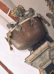 Angermünde, St. Marien, Paukenanlage der Wagner-Orgel