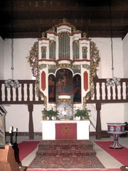 Pinnow, Orgelgehäuse von Christian Gottlieb Richter, 1712