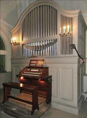 Ahrensfelde, Kirchhofkapelle: Orgel von G. F. Steinmeyer & Co (Öttingen), 1914