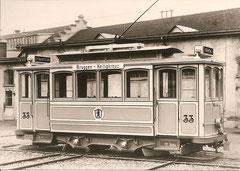 Tramwagen Nr. 33 im Herstellerwerk 1903