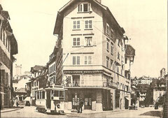 Tram Ce 2/2 1  in der Pfistergasse um 1903