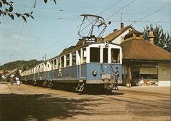 ABe 4/4 + B33 + 52 + 54 von 1926 am 28. 7. 1963 in Bottmingen