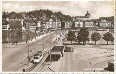 Seebrücke, gestempelt 22. 8. 1945