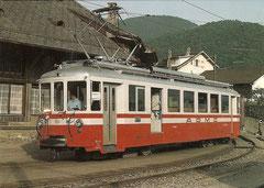 Triebwagen BDe 4/4 111 am 5. 7. 1982 in Aigle