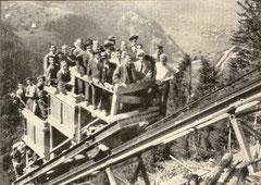 Steilste Standseilbahn der Schweiz zwischen Handegg und Gelmersee