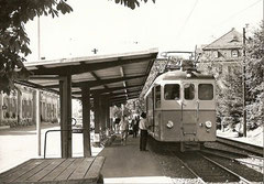 BDe 4/4 10 in Wohlen am 19. 8. 1967