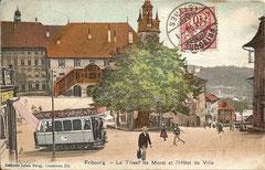 Le Tilieul de Morat et L'Hôtel de Ville, gelaufen am 5. 9. 1906