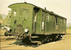 Dampf-Gepäck/Post-Triebwagen FZm 1/2 11 mit querliegendem Kessel
