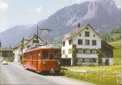 Triebwagen BDe 4/4 5 in Engi-Hinterdorf, 1969
