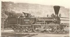 """Dampflokomotive """"Splügen"""" Baujahr 1858"""