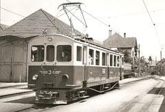 BDe 4/4 3 neu revidiert in Wiedlisbach 1961