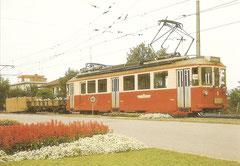 BDe 4/4 Nr. 9 mit Güterwagen