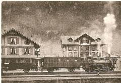 SEB Ed 3/3 5 (ab 1903 Ec 3/4 25) mit Z 77 in Zweisimmen am 1. 11. 1902