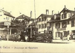 """HG 2/3 Nr. 4 """"St. Gallen"""" Billettausgabe in der Wirtschaft """"zur Eisenbahn"""""""