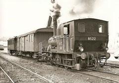 SBB-FZ leihweise bei ST mit E 3/3 8522, Triengen-Winikon, 14. 4. 1964
