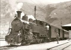 Zug von Brig nach Andermatt 1939