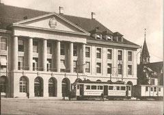 Aarauer Bahnhofplatz mit AS CFe 2/4 16 und WTB FZ 53 um 1915