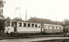Ce 4/4 4 mit altem Wagenkasten + FZ4 55 um 1953 in Aaurau