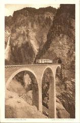 Castieler Viadukt, gelaufen 14. 4. 1916