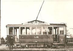Ce 2/2 11 der LJB in Niederbipp um 1907