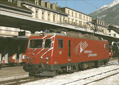 HGe 4/4 II 101 in Brig am 22. 2. 2003